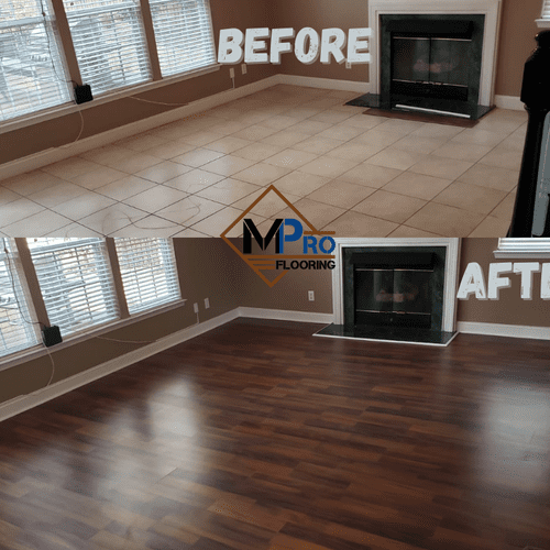 Amazing Living Room Laminate Transformation