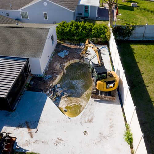 Professional pool removal and demolition