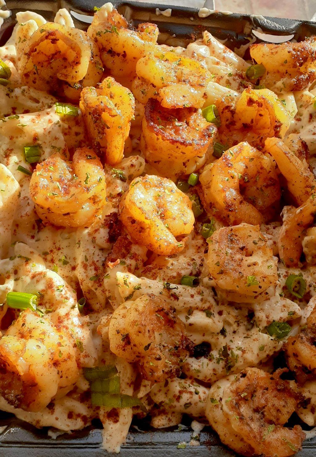 Shrimp over tchoupitoulas pasta
