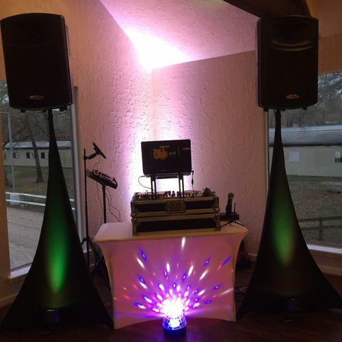 Small wedding reception setup