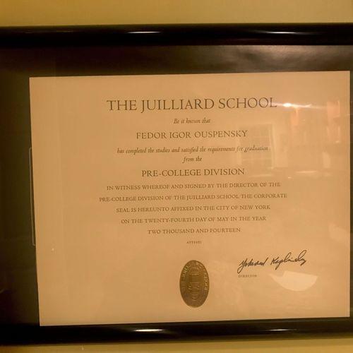 Juilliard School Pre-College grad