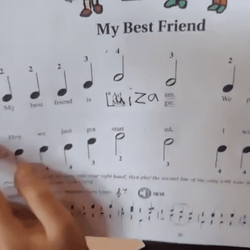 One of my students put my name into the song we were learning. :-)
