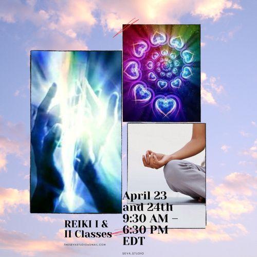 Usui/Holy Fire III Reiki I & II Training April 23 & 24