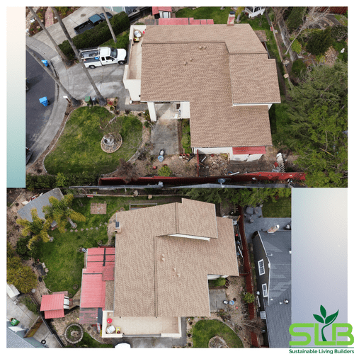 After picture, new roof installed in Rohnert Park