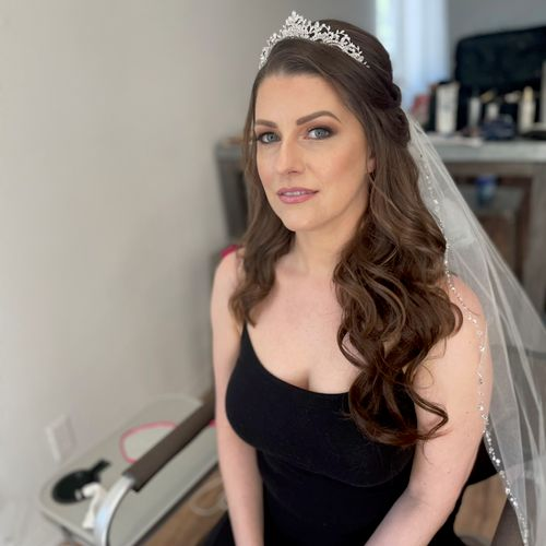 Try out hair extensions for your bridal trial