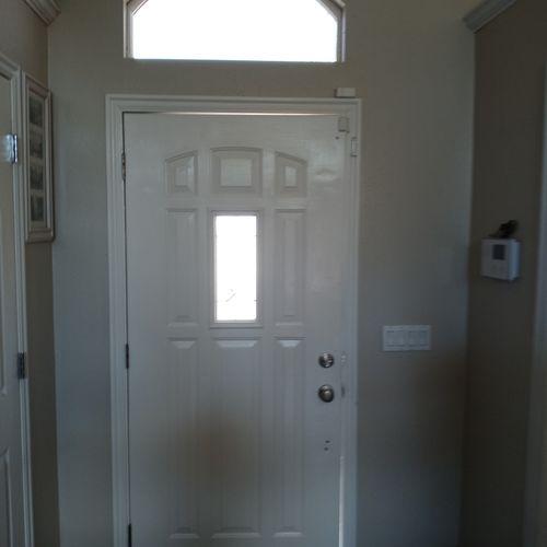 Before Steel Door Replacement