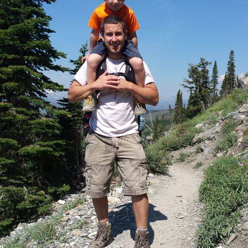 Me and my son in Glacier!