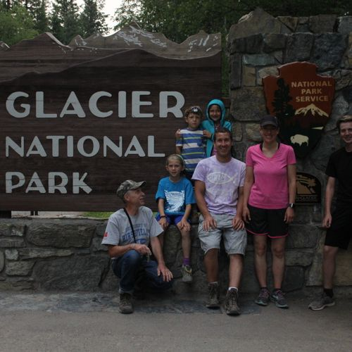Our Family in Glacier National Park!