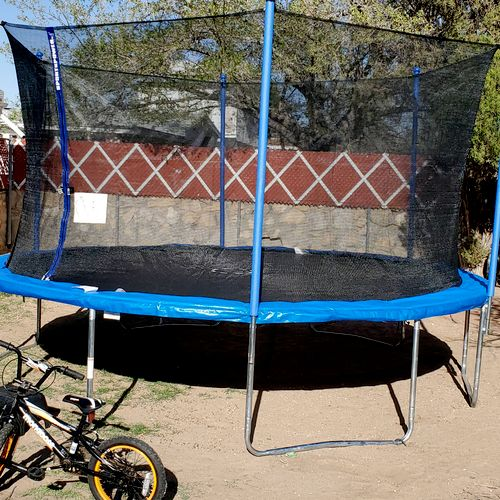 assembly of new trampoline