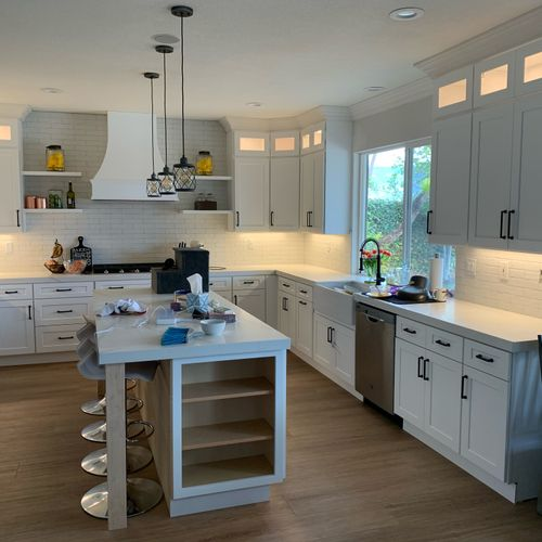 Kitchen lighting project- gorgeous!
