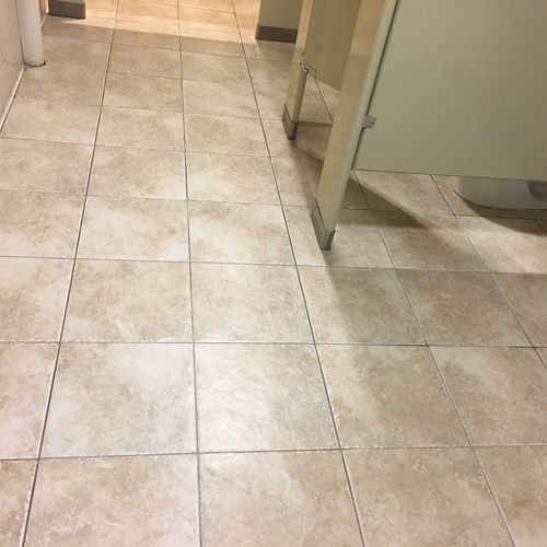 Tile and Grout Cleaning AFTER Picture