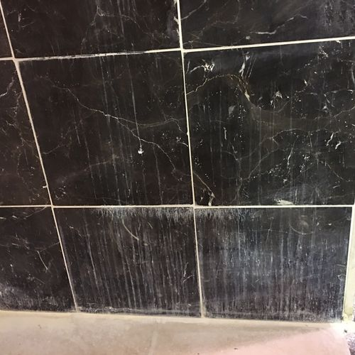 Marble Shower Wall BEFORE Test picture