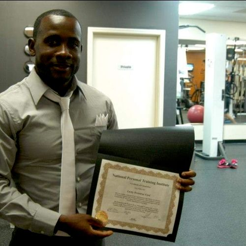 Graduation from personal trainig s=insre
