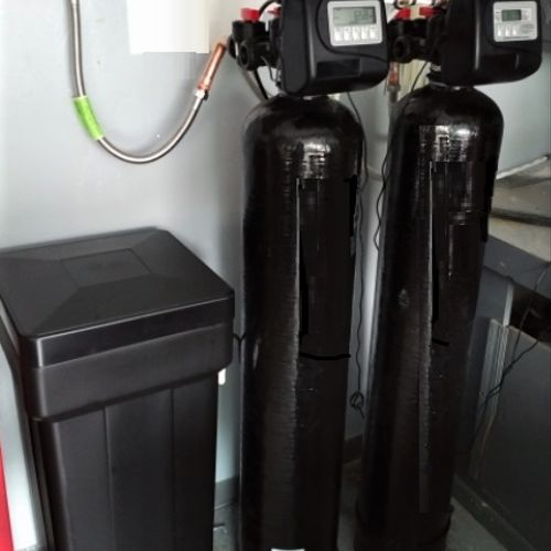 Two unit System Water Softener and Carbon Unit