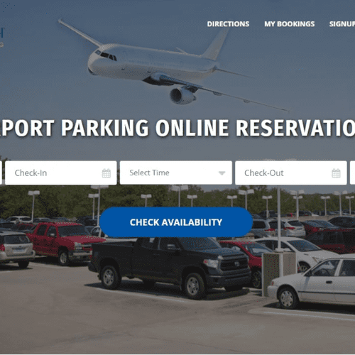 iPark N Travel- Airport Parking Solution Website