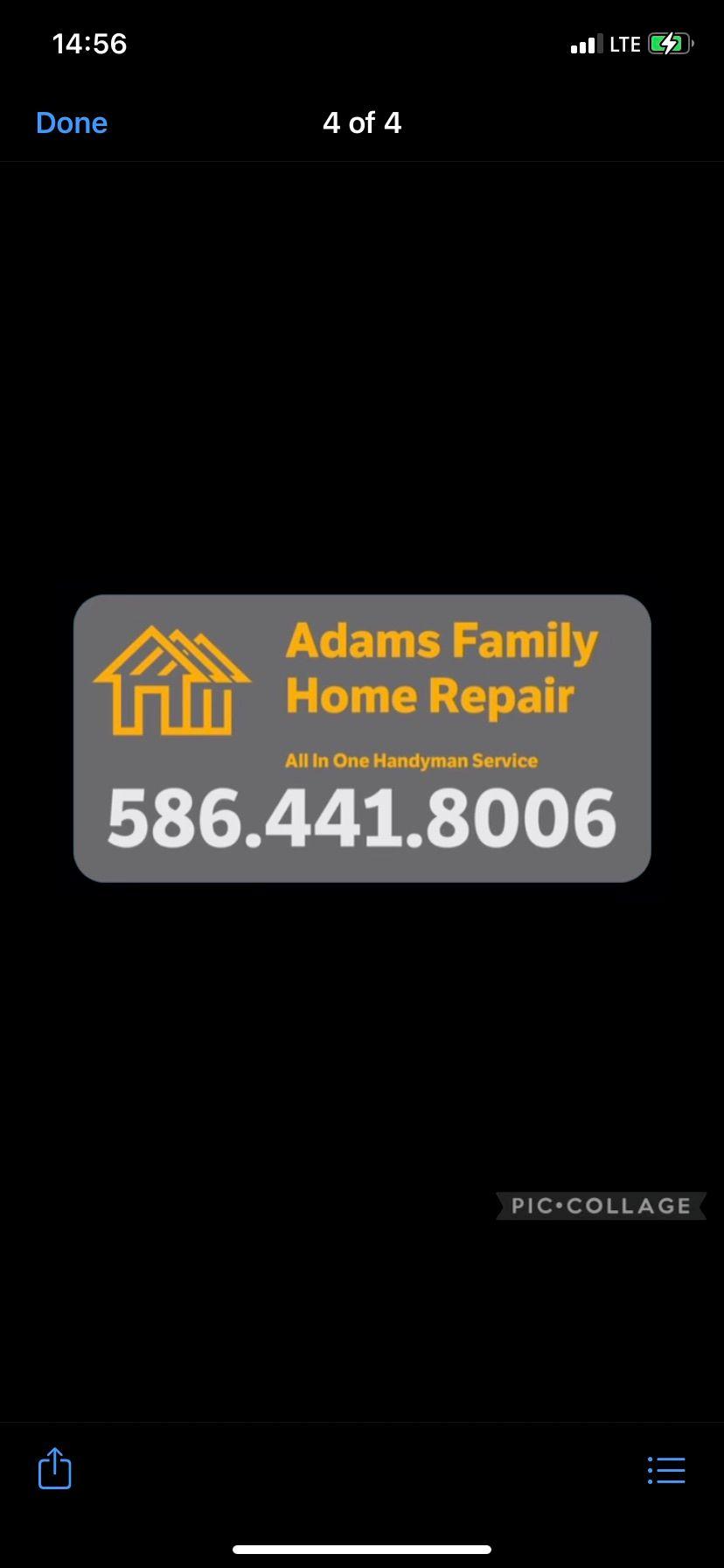 Adams Family Home Repair
