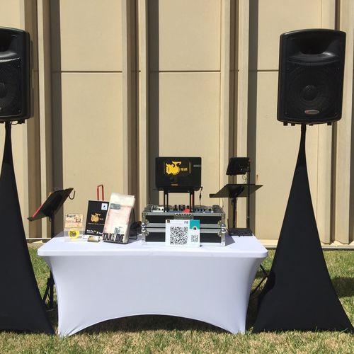 Dj foe life (spring fling/egg hunt ) event setup