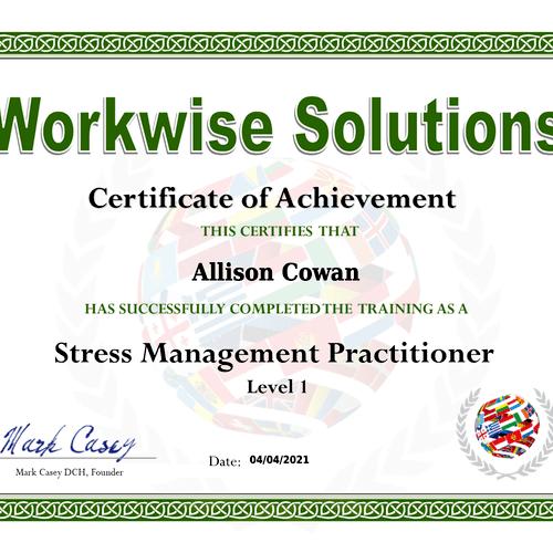Stress Management Practitioner