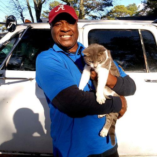 Mr one shot and my cat Sunshine😃