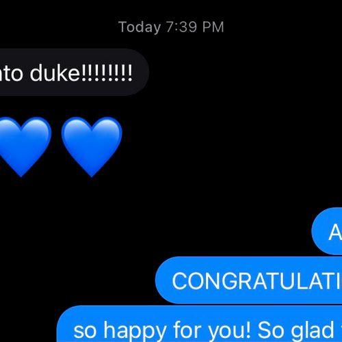 Duke U. Acceptance!