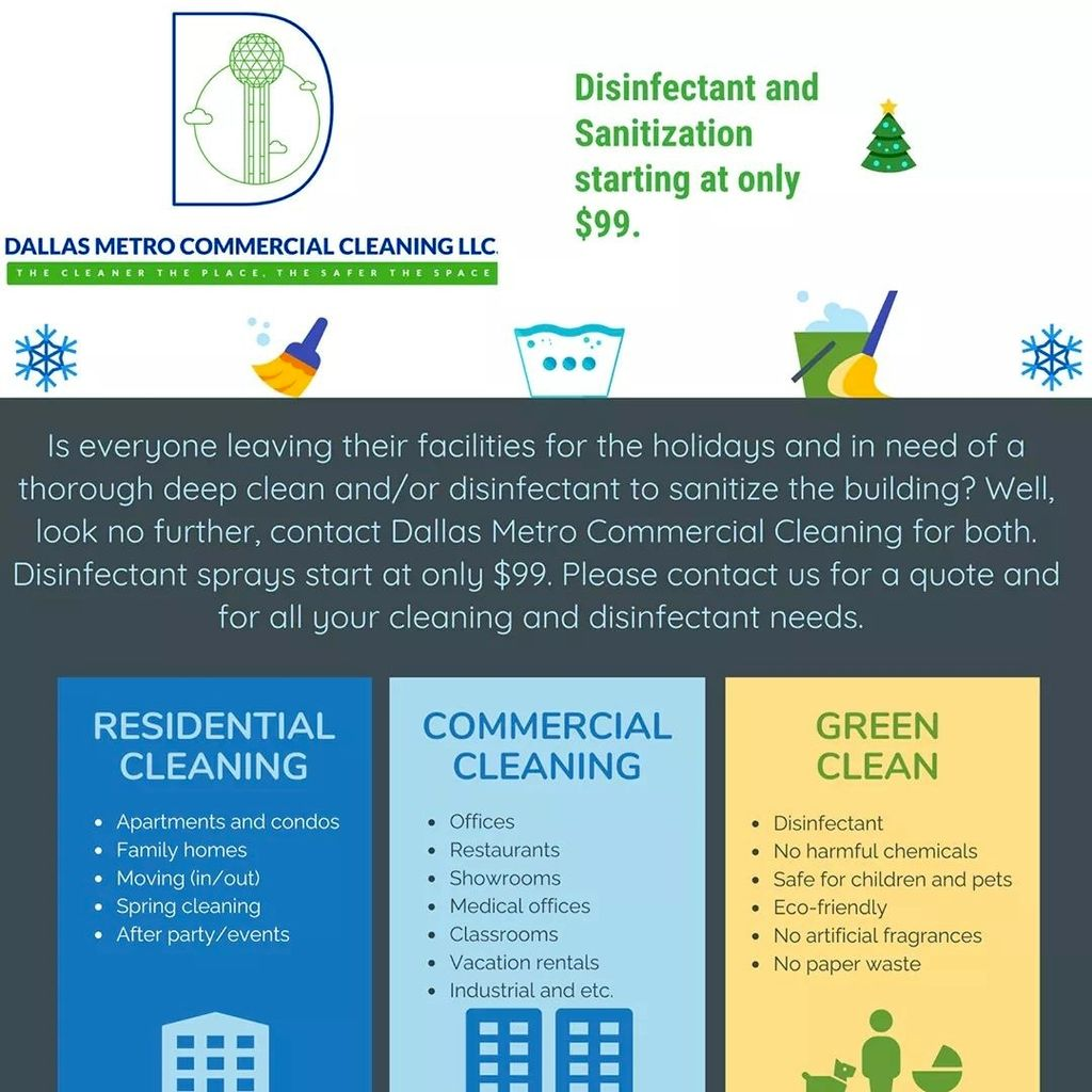 Dallas Metro Commercial Cleaning Company