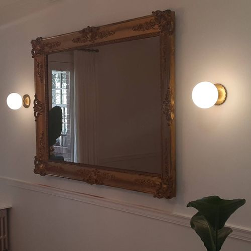 Today I had the ultimate privilege to hang this early 1800's Italian Church Guilded framed mirror in NW Washington DC.