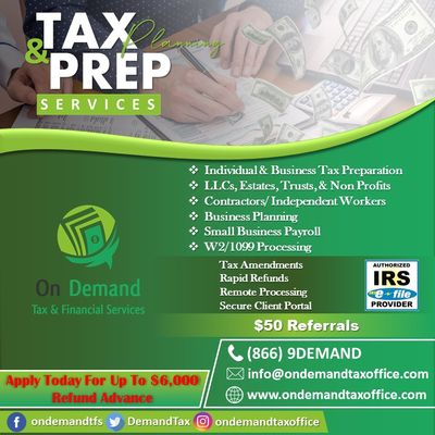 Avatar for On Demand Tax and Financial Services