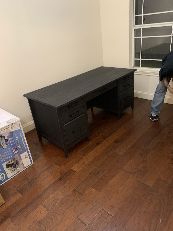 Desk and shelf