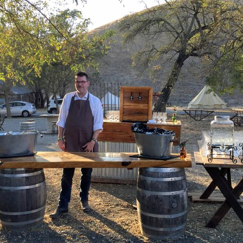 Beer & wine reception in Livermore for a private caterer