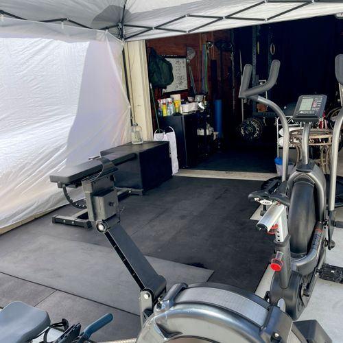 Concept 2 Rower, Assault Bike, Rebounder (Mini Trampoline)