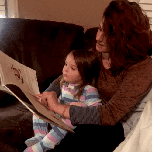 My niece and I reading a story