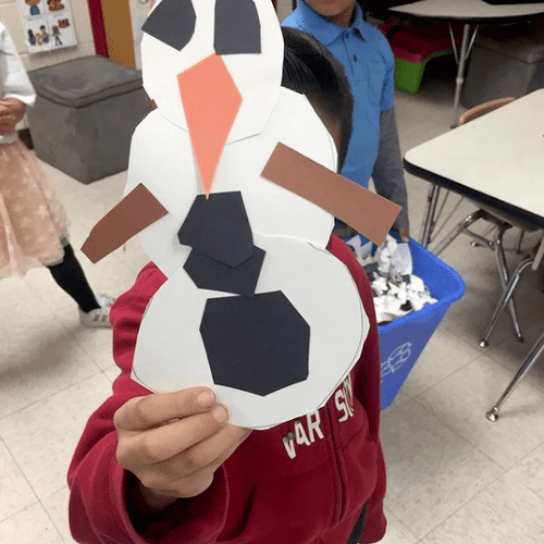 Snow Person Art Project
