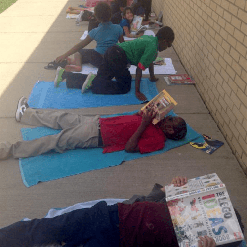 3rd Graders Participating in Reading to Self