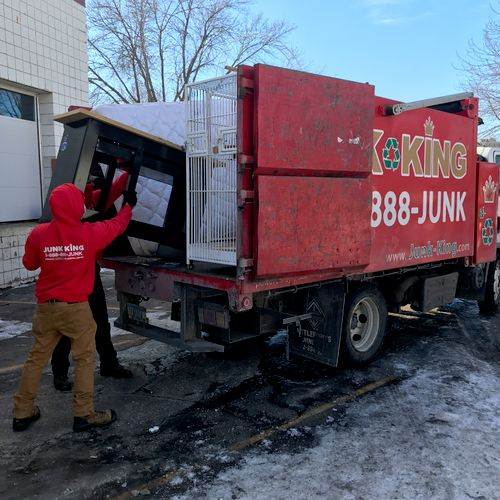 Crew loading up truck