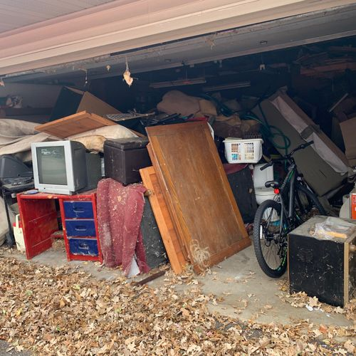 """Garage Clean Out """"before"""" picture"""