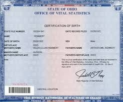 GET BIRTH CERTIFICATES APOSTILLE/AUTHETICATED