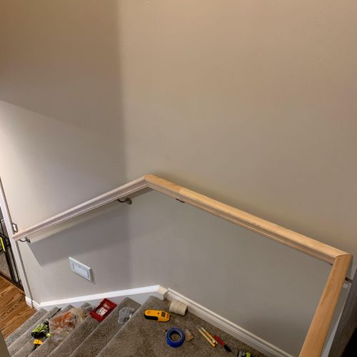 The 'After' of the railing installation.