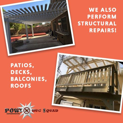 Structural Repairs. Contact us for a FREE inspection & estimate!
