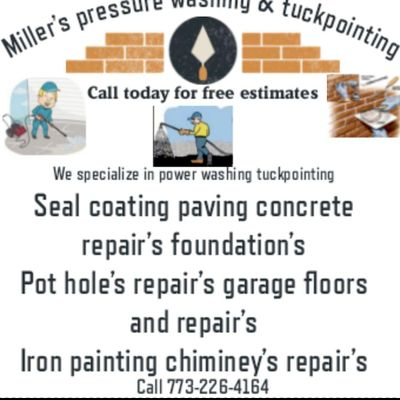Avatar for Miller's pressure washing & tuckpointing