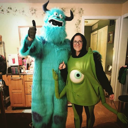 Halloween costumes for my husband and me. Slightly unfinished but wearable!