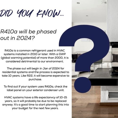 Most air conditioners currently use R410a
