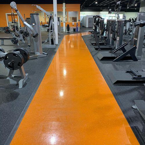 Follow the orange path to fitness!