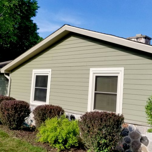 new LP siding installed and painted