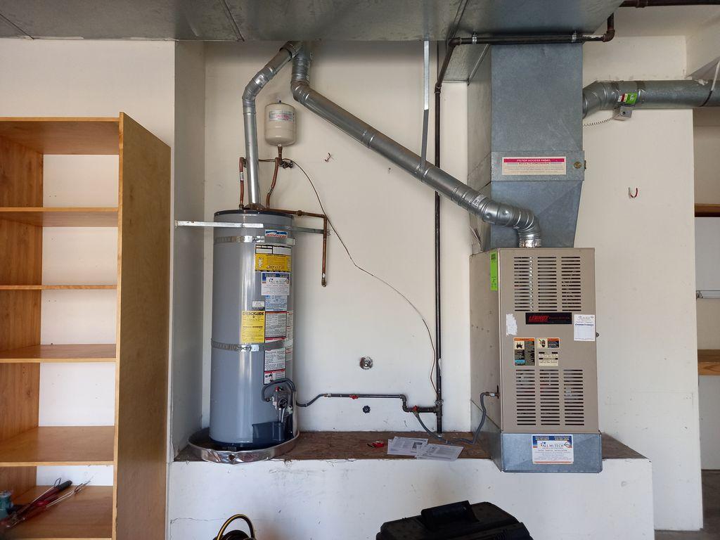 75 gallons water heater installation e