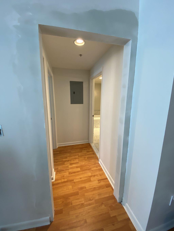Door removal and Drywall Repair