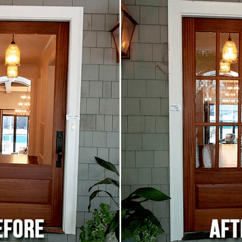 Before After Window Replacement+ Repair