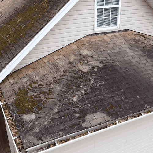 What does the porch roof look like ?