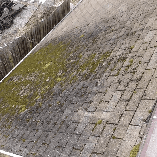 Top view of roof w/ Drone
