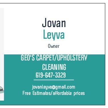 Geo's Carpet and Upholstery cleaning