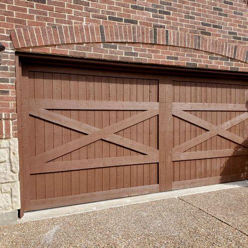 true wood door after stain